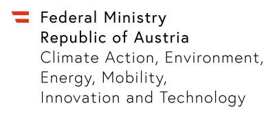 Logo BMK (Austrian Federal Ministry for Climate Action, Environment, Energy, Mobility, Innovation and Technology, Vienna)